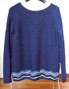 Maglione donna in lana e alpaca blu fatto a mano caldo e
