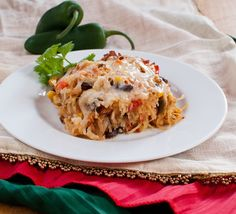 Gluten free Mexican Baked Spaghetti Squash - the healthy love child of lasagna and enchiladas.