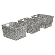 Seville Classics Decorative Woven Storage Baskets (Set of - Sam's Club Decorative Storage Bins, Small Storage, Storage Baskets, Decorative Boxes, Rustic Pantry Door, Basket Decoration, Seville, Mild Soap, Basket Weaving
