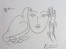 PABLO PICASSO Visage de la Paix 1950 II