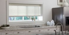 kitchen window treatments-Roller Shades-Corteccia Limestone-3 Day Blinds