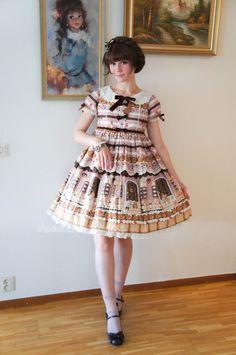 deadxsweetness: Toned down sweet outfit. ( ^  ^ ) #lolita fashion