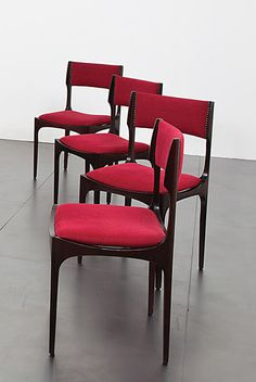 Giuseppi Bibelli; Rosewood Side Chairs for Sormani, c1963.#furniture #jpwarren #interiordesign