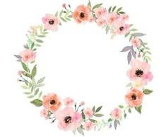 Ideas For Wall Paper Flowers Watercolor Clip Art Art Floral, Frame Floral, Flower Frame, Floral Logo, Flower Art, Flower Ideas, Vector Flowers, Flower Clipart, Watercolor Logo