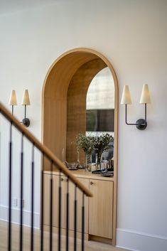 Opt for an arched bar instead of a regular one. Arches can add more charm and flair to your space. We created this arched bar with antique mirrors to add an elegant yet functional statement to this home. Built In Bar, Built Ins, Interior Styling, Interior Design, Home Reno, Decoration, Future House, Interior And Exterior, Facade
