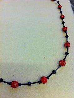 Bugle bead necklace