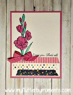 Stampin' UP! Sweet Sugarplum, Gift of Love, Playful Palette Washi tape www.myflutterbymoments.com