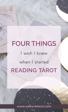 My first year as a tarot reader had a lot of big lessons. Here's the main ones
