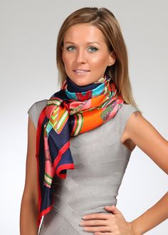 Silk Square Scarf - and so she would dance. by VIDA VIDA LlzqftC56t