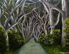 Your place to buy and sell all things handmade Realistic Paintings, Original Paintings, Game Of Thrones King, Filming Locations, Hedges, Landscape Paintings, The Darkest, How To Find Out, Wall Art