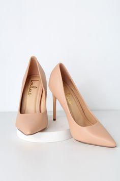 e1f1472802 Cute Nude Pumps - Nude Heels - Vegan Pumps - High Heels Top Shoes, Cute