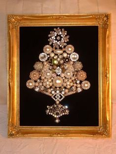 white  gold jewelry tree