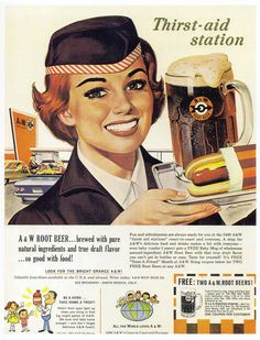 A&W ads   1965 ad from the book Drive-in Deluxe by Michael Karl Witzel