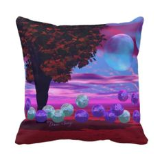 Bubble Garden - Rose and Azure Wisdom Pillow $32.95