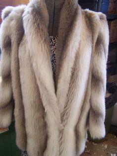 Vintage Faux Fur Coat, Style VI, Mink Look, Pant Length, Gray Silver/White, Med, LG,  10-12, 70s, 80s by TeresasTreasuresEtc on Etsy