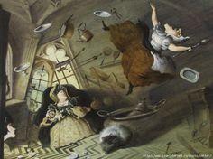 "Valery Kojin illustration for ""Alice in Wonderland""."