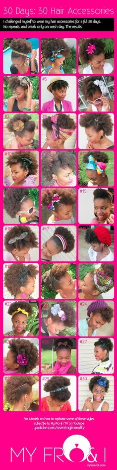 My challenge before all the updos...30 ways to wear a hair accessory on natural hair