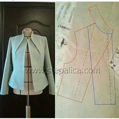 Best 12 Fantastic sewing hacks are available on our internet site. Collar Pattern, Jacket Pattern, Blazer Pattern, Dress Sewing Patterns, Clothing Patterns, Fashion Sewing, Diy Fashion, Sewing Clothes, Diy Clothes