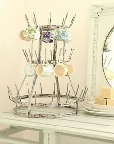 Vintage Series: Decorating with French Bottle Drying Racks | TIDBITS&TWINE