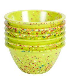 Zak Designs Kiwi Confetti Lipped Bowl - Set of Six on zulily