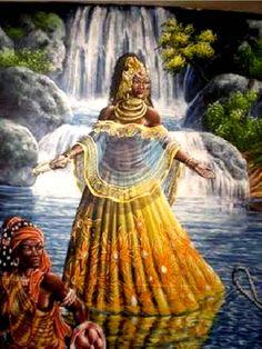 Black Women Art, Black Art, Oya Orisha, Oshun Goddess, Orishas Yoruba, Yoruba Religion, Pan Africanism, Black Royalty, Art Of Love