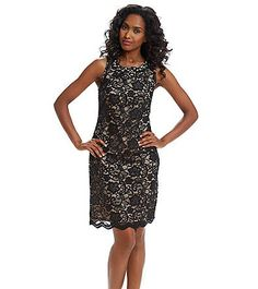 Jessica Howard® Jeweled Lace Shift Dress  063723923071