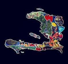 "justtheflowofthings: "" Haiti is so full of culture! The first black nation to be free! Haitian Tattoo, Haitian Art, Family Tattoo Designs, Family Tattoos, Art Haïtien, Haiti Country, Haiti History, Dyi Decorations, Haiti Flag"