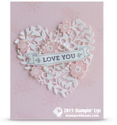 Card: Bloomin' Love Heart WOW