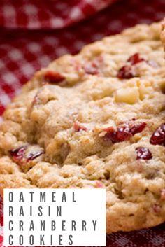 Oatmeal Raisin Cranberry Cookies #oatmealraisincranberrycookies #oatmealcookies #oatmealcookierecipes #raisincookies #raisincookierecipes #cranberrycookies #cranberrycookierecipes #healthycookies #cleaneatingcookies #cookies #cookierecipes #desserts #healthydesserts #cleaneatingdesserts #treats #cleaneatingtreats #healthytreats