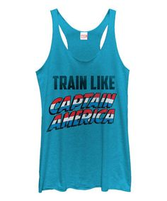 Another great find on #zulily! Marvel 'Train Like Captain America' Racerback Tank - Juniors #zulilyfinds