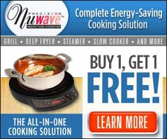 NuWave Induction Cooktop gives you a complete energy-saving cooking solution with precise temperature control.