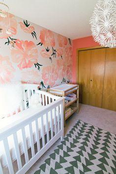 Baby V's Pink Peony Nursery