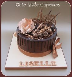 Bronze effect Chocolate Drip Cake x