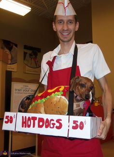 Hot Dog Vendor Costume - 2012 Halloween Costume Contest
