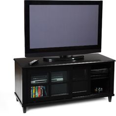 """Convenience Concepts French Country Black TV Stand, for TVs up to 48"""""""