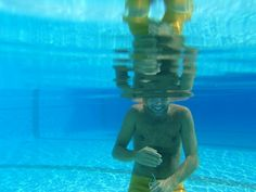 Underwater. ..