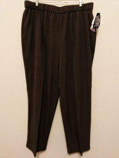 "Briggs New York - Women's Dress Stretch Pants Size 22W - Brown Tweed (29 1/2"" Inseam) NEW #BriggsNewYork #DressPants  ..... Visit all of our online locations ..... (www.stores.eBay.com/variety-on-a-budget) ..... (www.amazon.com/shops/Variety-on-a-Budget) ..... (www.etsy.com/shop/VarietyonaBudget) ..... (www.bonanza.com/booths/VarietyonaBudget ) .....(www.facebook.com/VarietyonaBudgetOnlineShopping)"
