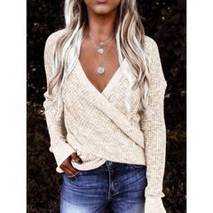 Wrap Sweater, Long Sleeve Sweater, Casual Sweaters, Sweaters For Women, Cheap Sweaters, Bohemian Tops, One Piece Suit, Types Of Sleeves, Kurti