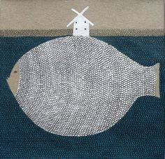 LOOKarna - windmill and fish illustration