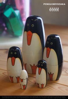 【楽天市場】Penguin Ryoshka 5set ペンギンリョーシカ 5セット MATRYOSHKA マトリョーシカ 5個組 マトリョーシカ ロシア ペンギン 動物DETAIL 【あす楽対応_東海】:interiorzakka ZEN-YOU