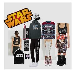 """""""WHICH SIDE ARE YOU ON   WHO IS READY!!!"""" by miaaa08 ❤ liked on Polyvore featuring Hybrid, Forever 21, Uniqlo, Disney, ASOS, Converse and NIKE"""