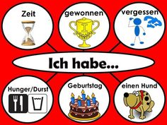 """Using """"Ich habe .""""in different constructions German Grammar, German Words, Deutsch Language, German Language Learning, Learn German, Language Activities, Classroom, Teaching, Germany"""