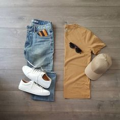 3 fresh summer outfit grids - lifestyle by ps mens fashion app, fashion fas Urbane Mode, Mode Swag, Casual Outfits, Men Casual, Casual Chic, Smart Casual, Men's Outfits, Casual Styles, Herren Style