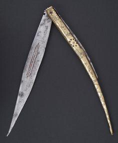 Navaja de Santa Cruz de Mudela. España, siglo XIX. Long. abierta: 57 cms. Long. cerrada: 31 cms