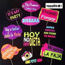 photo booth props para imprimir en español 2015 - Buscar con Google Bolo Neon, 30th Birthday, Birthday Parties, Photobooth Props Printable, Luau, Mexican Party, Ideas Para Fiestas, Fiesta Party, Party Props