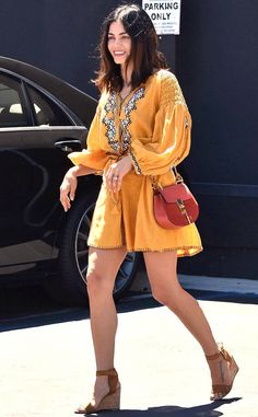 Jenna Dewan Tatum from The Big Picture: Today's Hot Photos  Legs for days! The actress is spotted sporting a short yellow dress while out and about in Los Angeles.