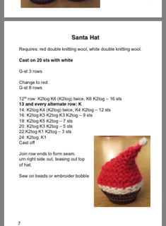 Hand knitted Santa hat covers for ferrero rocher by DaintyButtons | Christmas knitting patterns ...