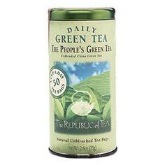 The Republic of Tea  The People's Green Tea  Republic of Tea The People's Green Tea(50 Tea Bags)   Daily Green Te...