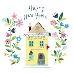 'Happy new home' - Congratulations card template you can print or send online as eCard for free. Personalize with your own message, photos and stickers. New Home Greetings, New Home Wishes, New Home Cards, New Home Gifts, Congratulations New Home, New Home Quotes, Happy Birthday Art, Happy New Home, Free Printable Cards