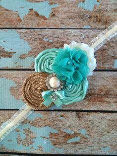 FLOWER GIRL headband infant toddler by FallenStarCoutureInc, $16.99
